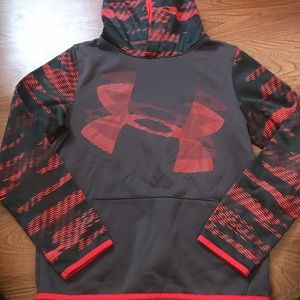 Under Armour boys hoodie gray red